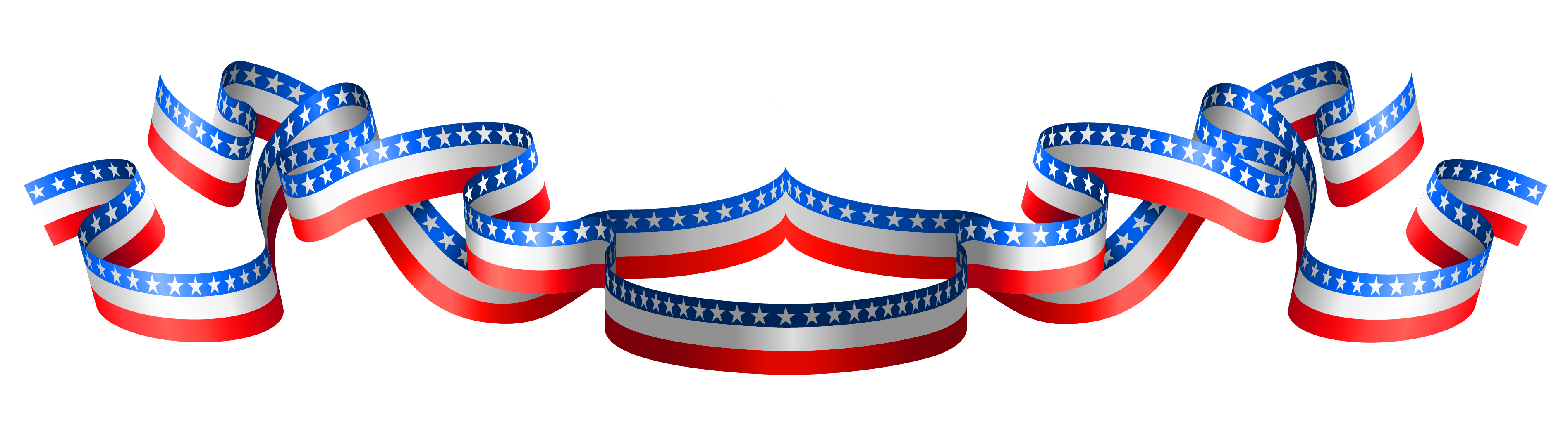 Usa flag band png. July clipart decoration