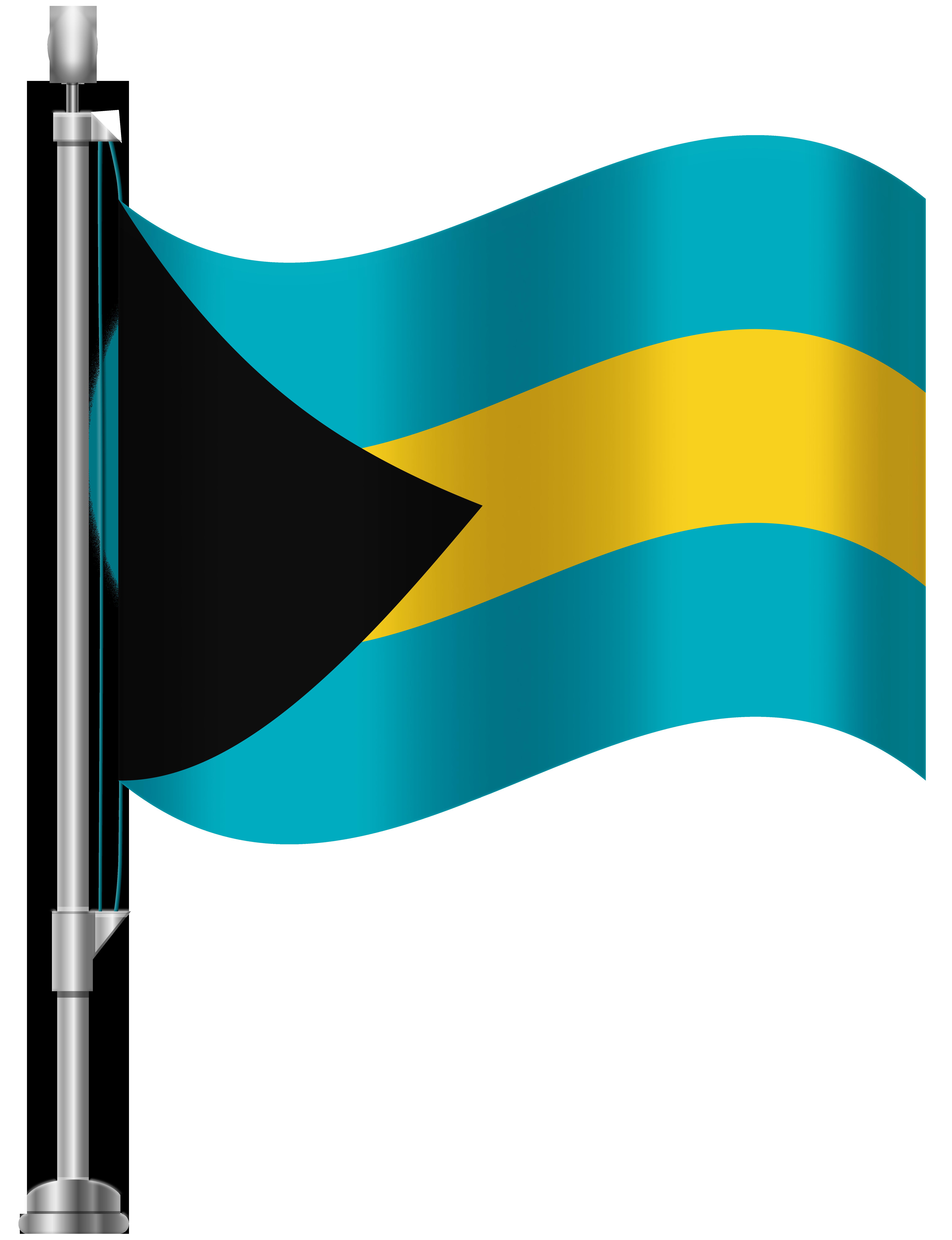 Bahamas png clip art. Flag clipart summer