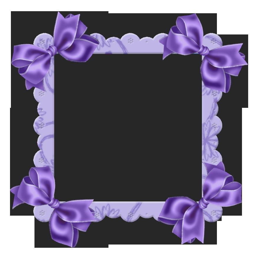 Lace purple flower border. Clipart bow floral