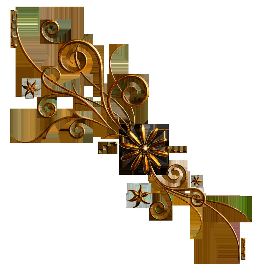 Deco ornament png picture. Clipart bow floral