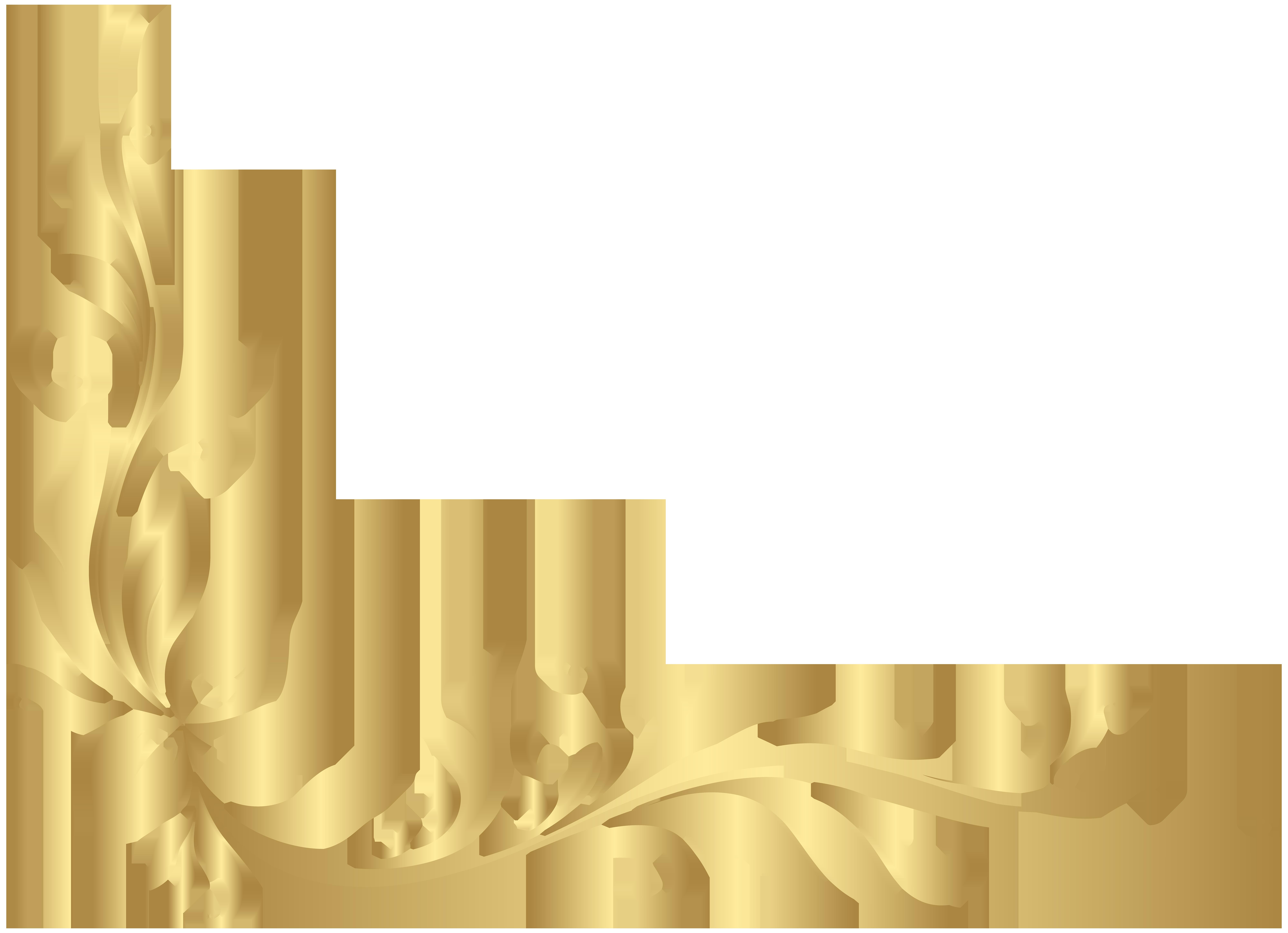 Clipart bow floral. Golden decoration transparent png