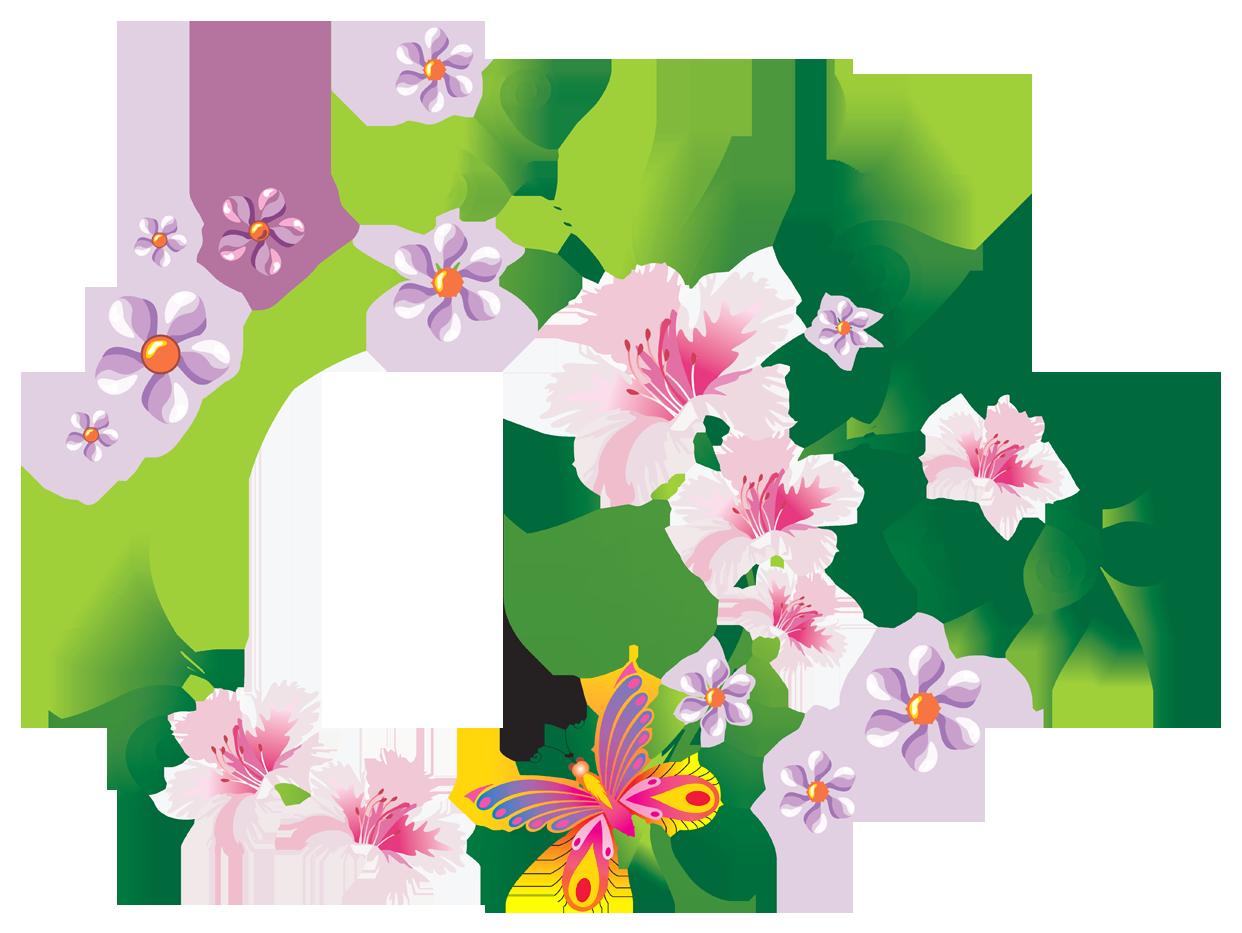 Clipart bow floral. Decoration png clip art