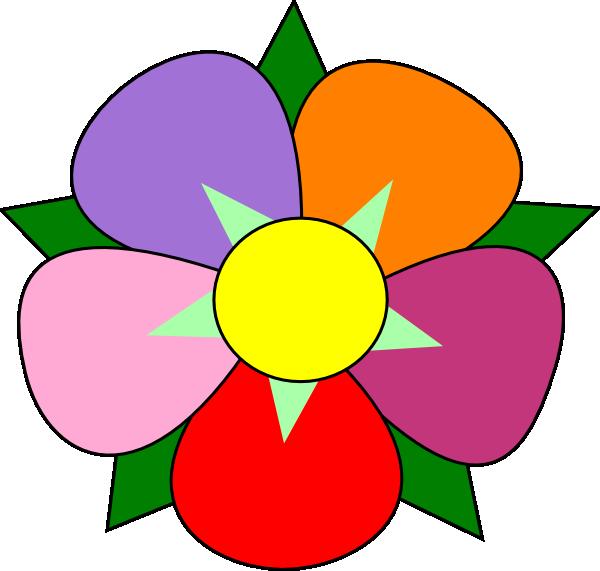 Clip art at clker. Dot clipart flower