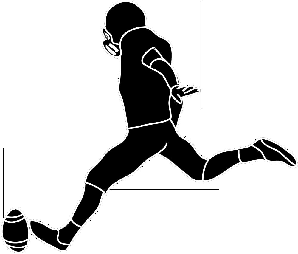 Clip art fabian y. Football clipart silhouette
