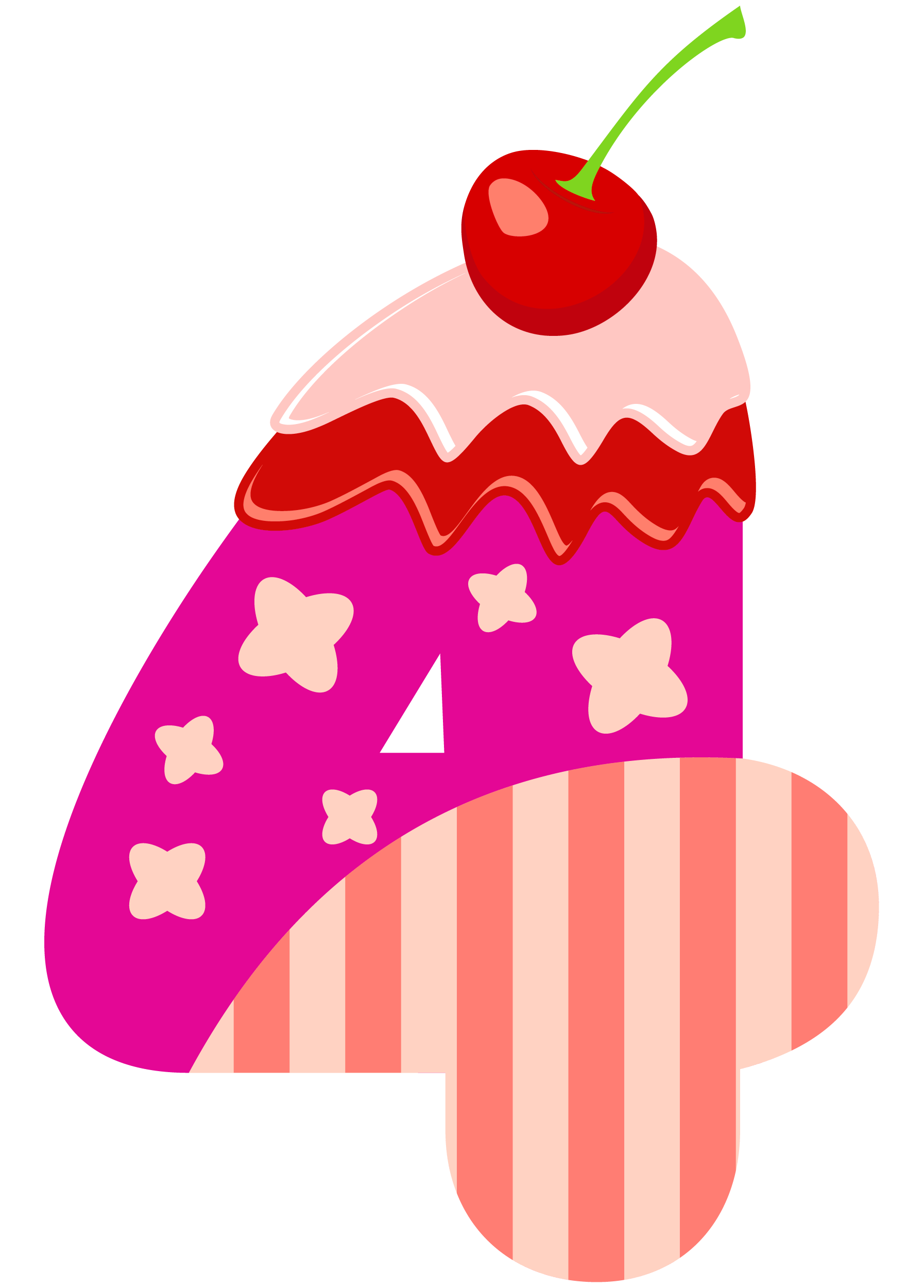 Clipart bow four. Sweet number png image