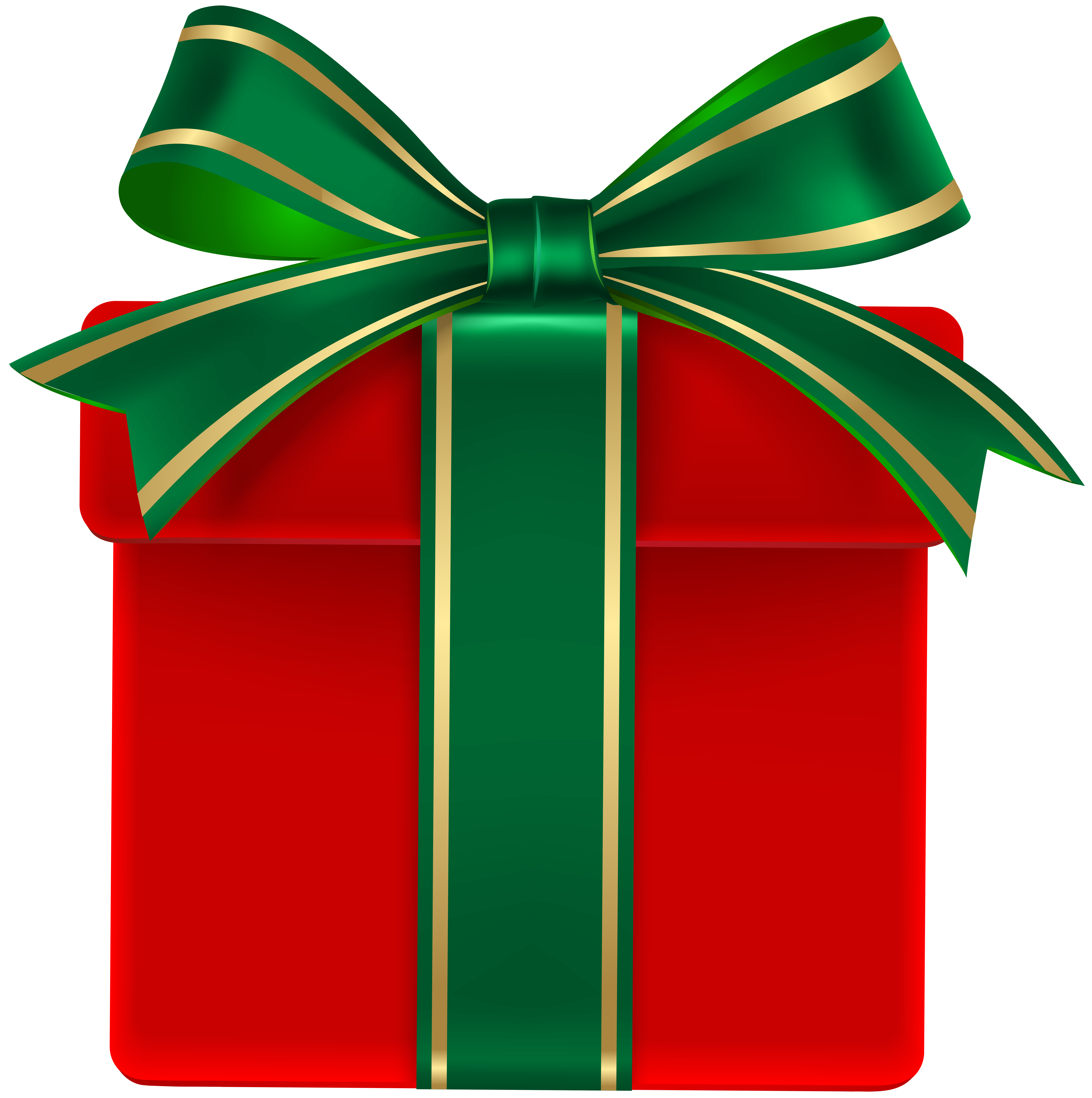 Clipart bow gift bow. Red box with green