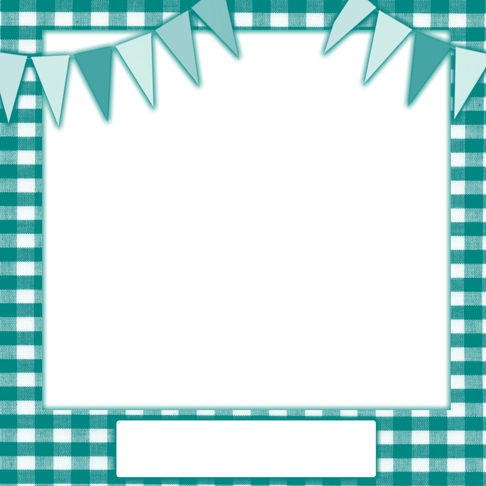 Clipart bow gingham. Teal frame png with