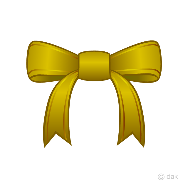Free picture illustoon . Clipart bow gold