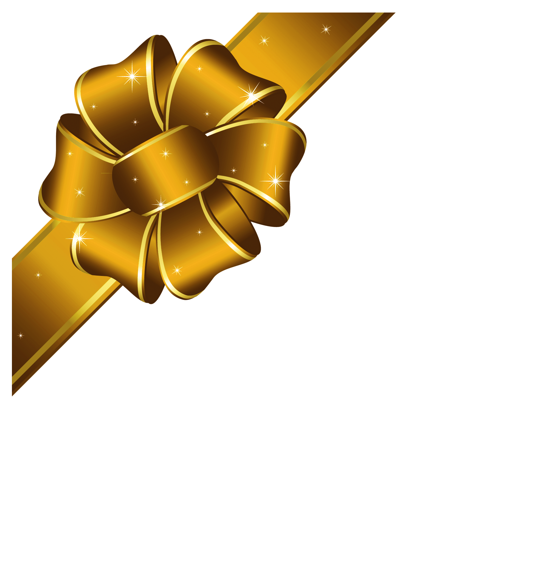 collection of present. Clipart bow gold