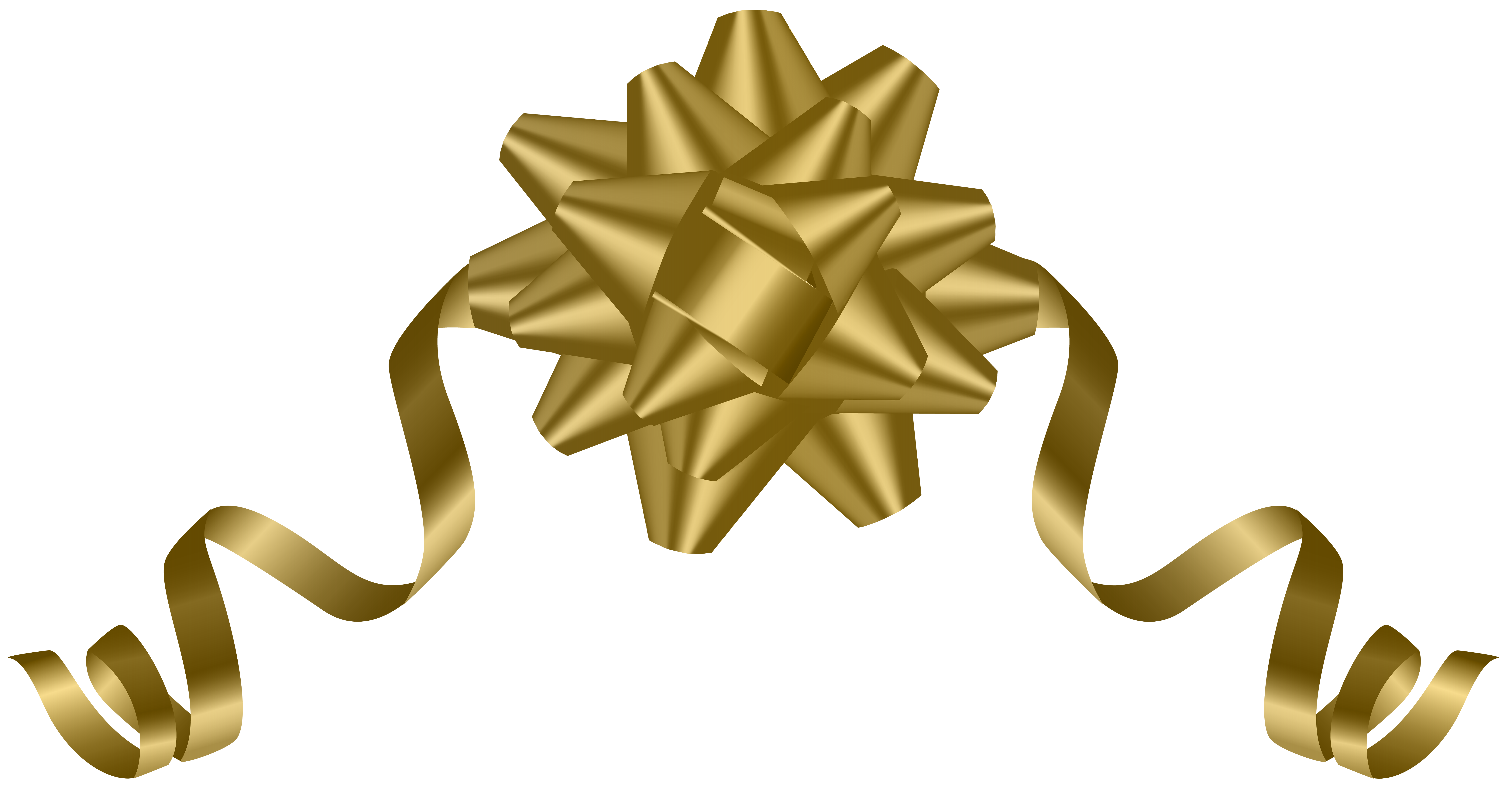 Clipart bow gold. Deco transparent png clip