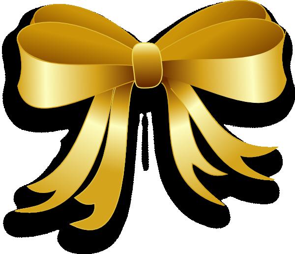 Ribbon clip art at. Clipart bow gold