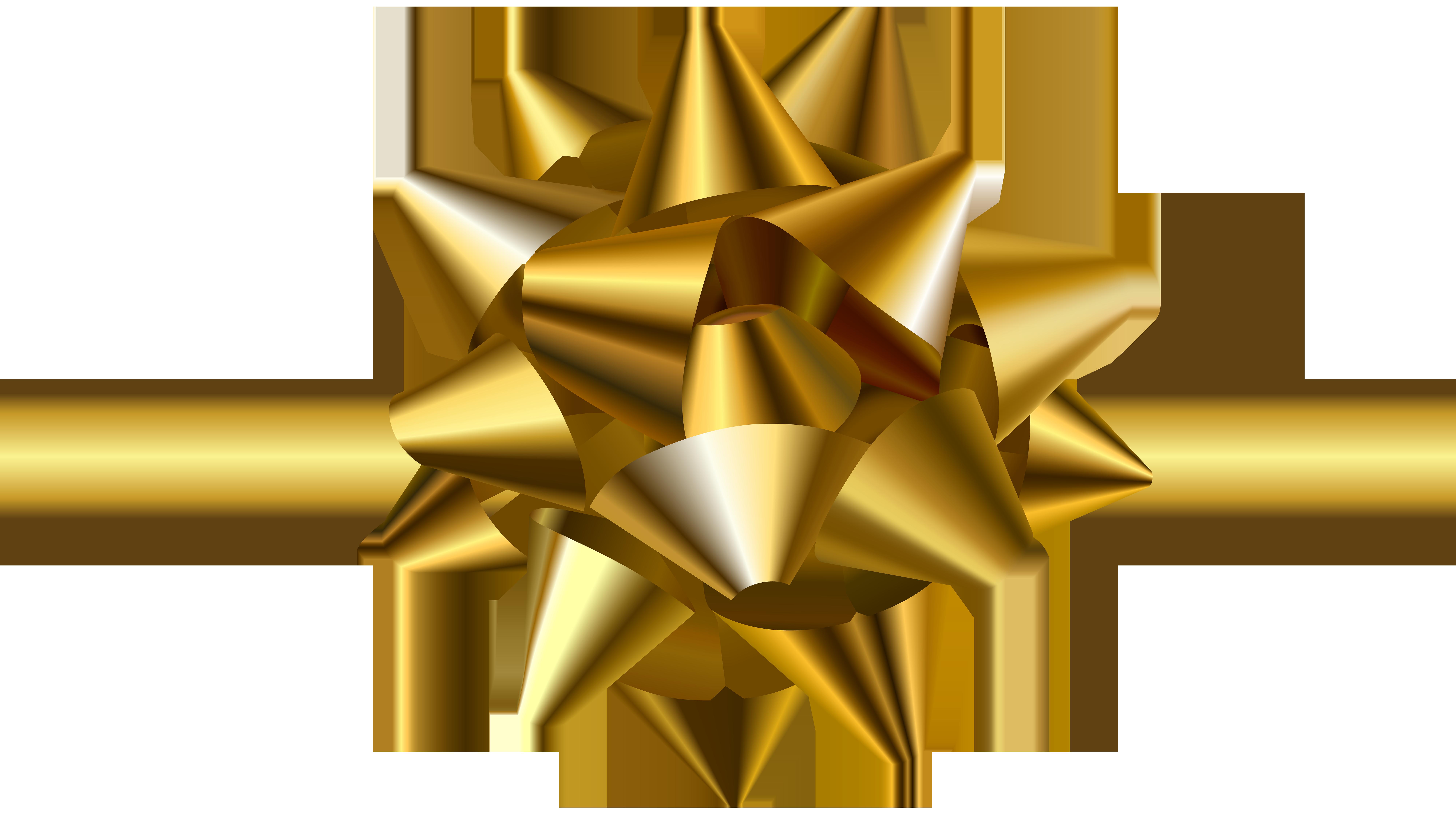 Transparent png clip art. Clipart bow gold