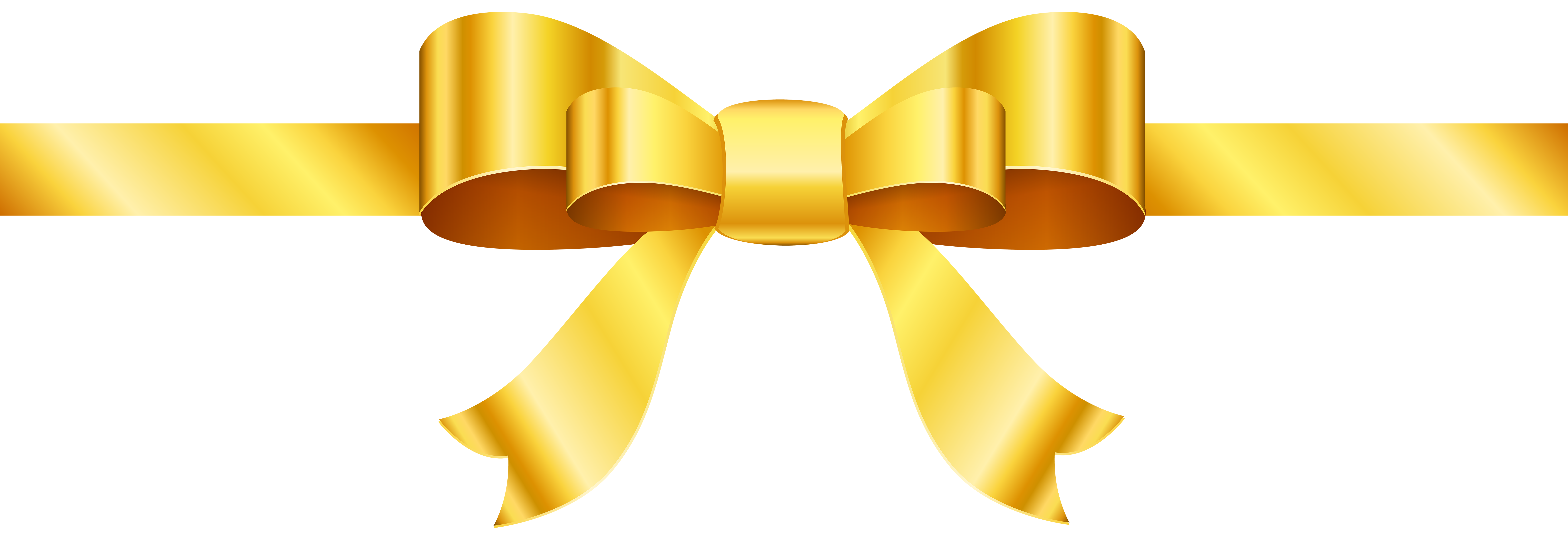 Png clip art image. Clipart bow gold
