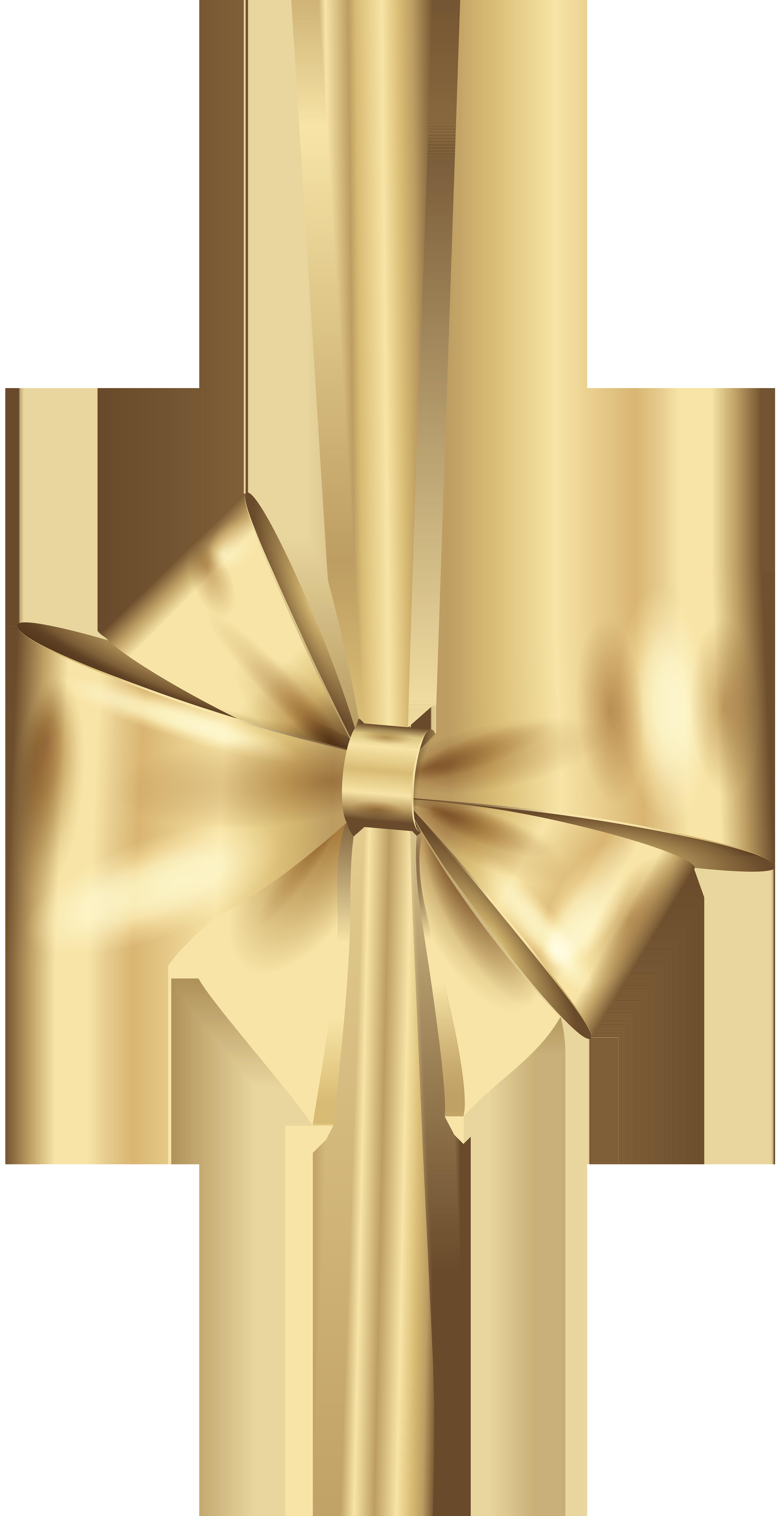 Deco png clip art. Clipart bow gold