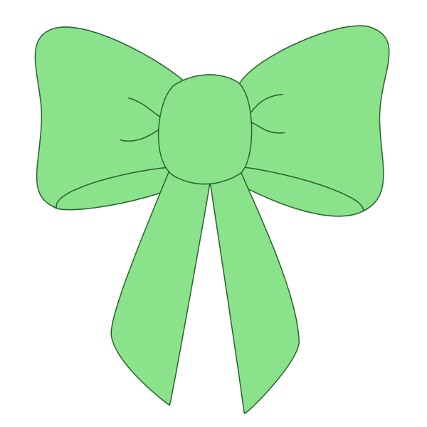 collection of high. Clipart bow green