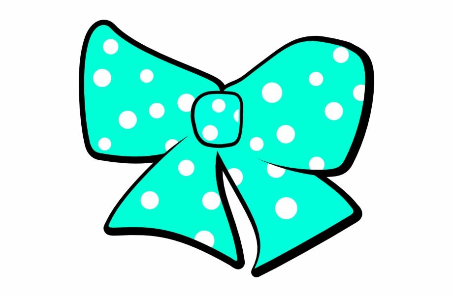 With polka dots clip. Clipart bow hairclip