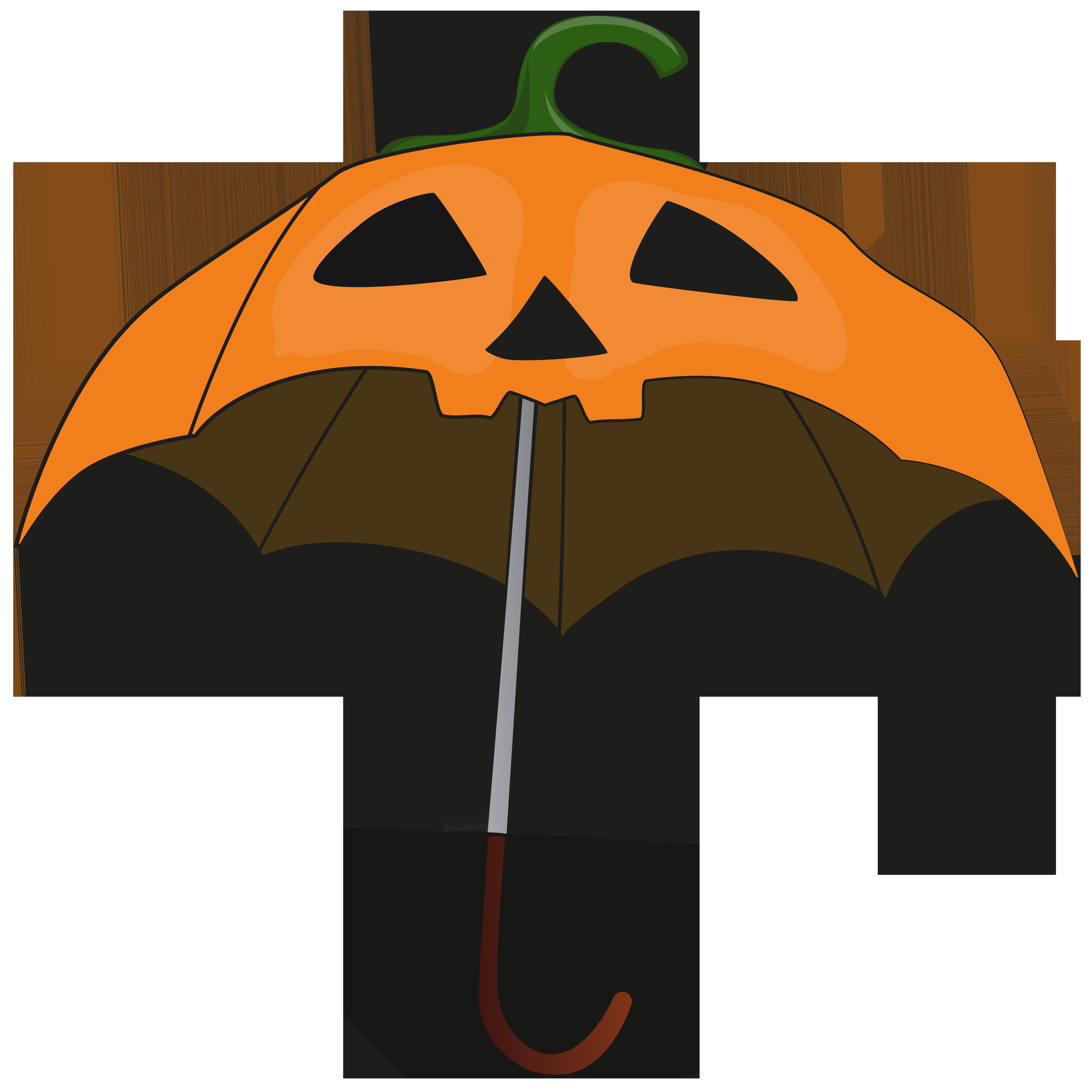 Tree clipart pumpkin. Halloween umbrella png clip