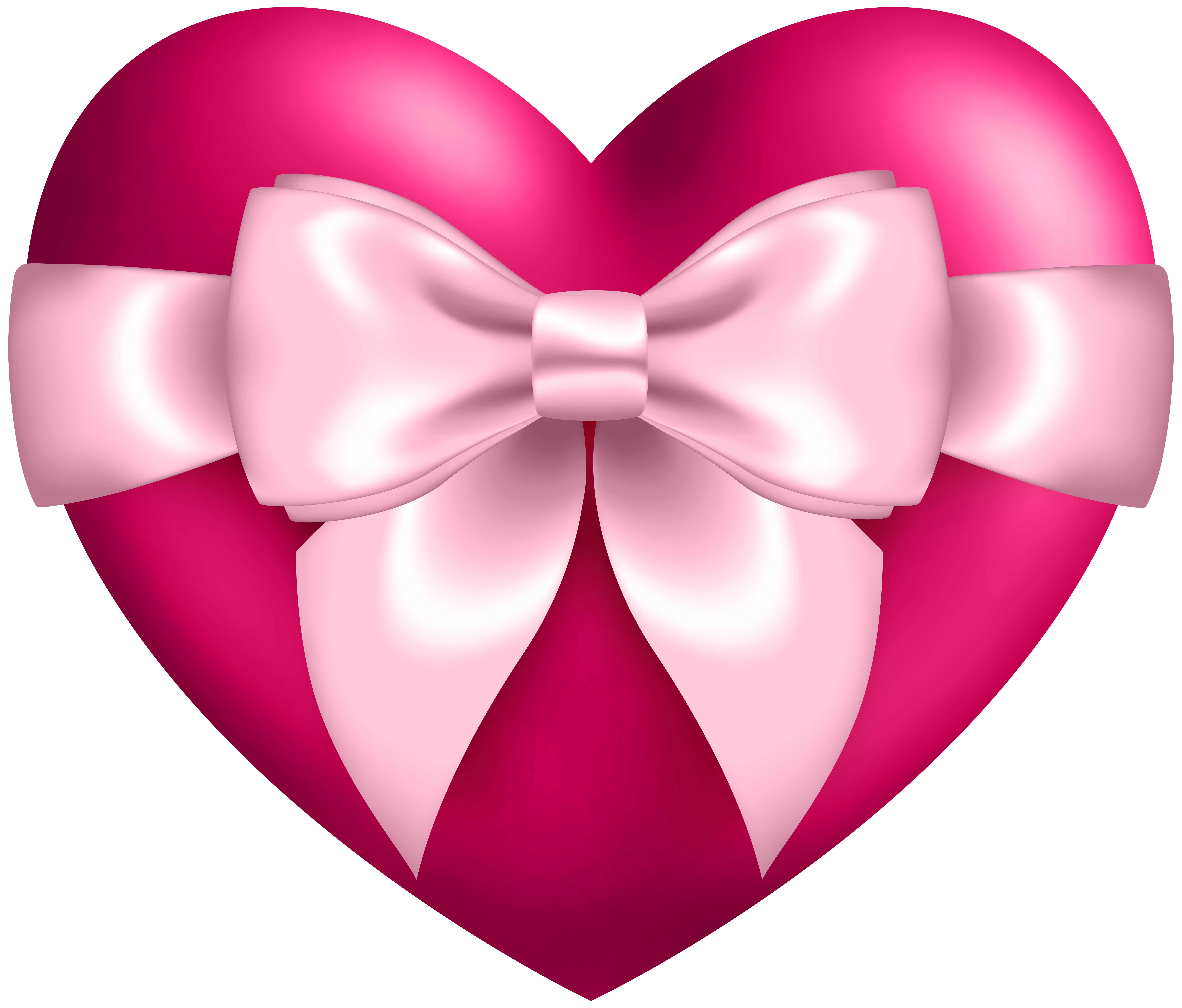 Clipart bow heart. With transparent png clip
