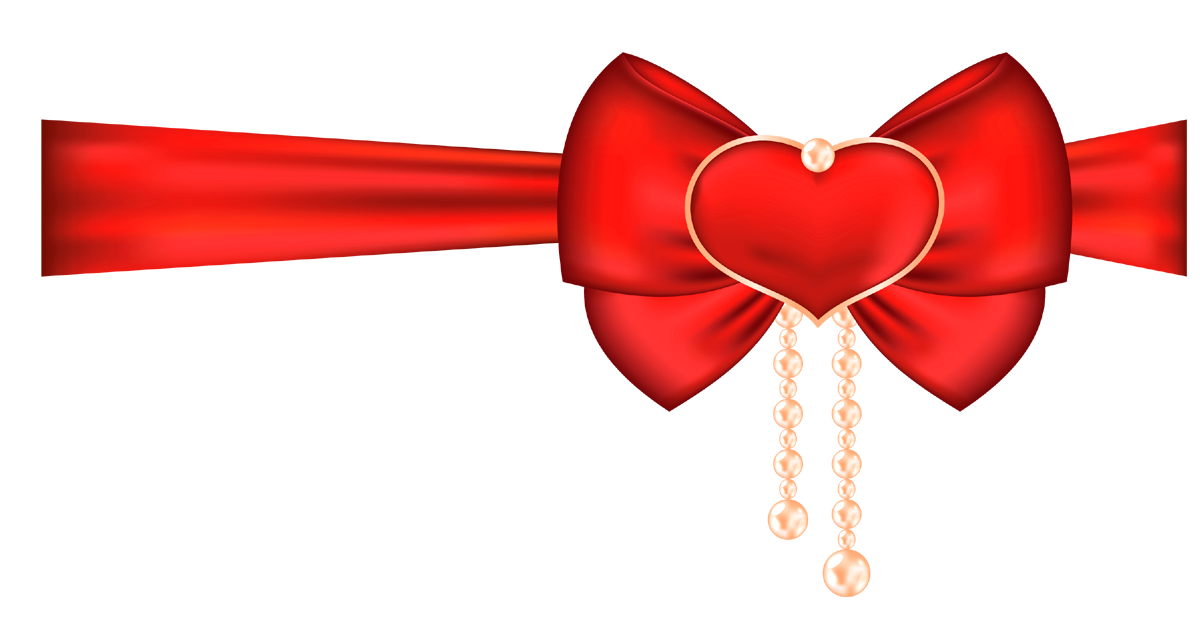 Png and photo ribbon. Clipart bow heart