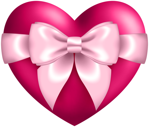 With transparent png clip. Clipart bow heart