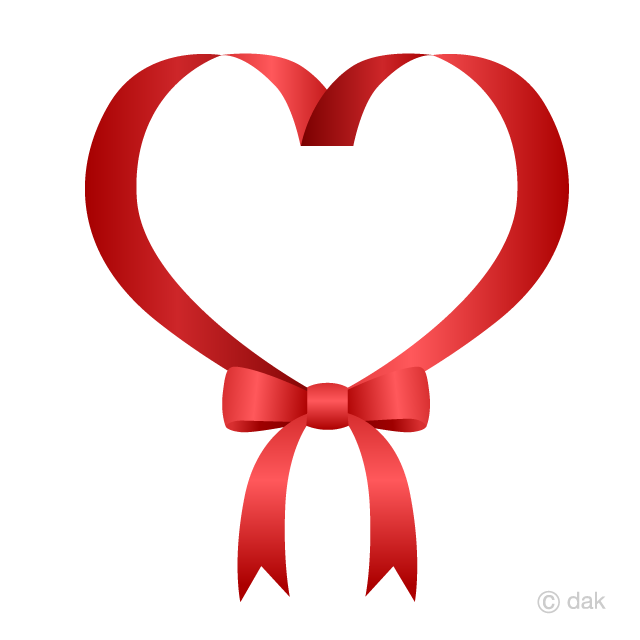 Red ribbon with free. Clipart bow heart