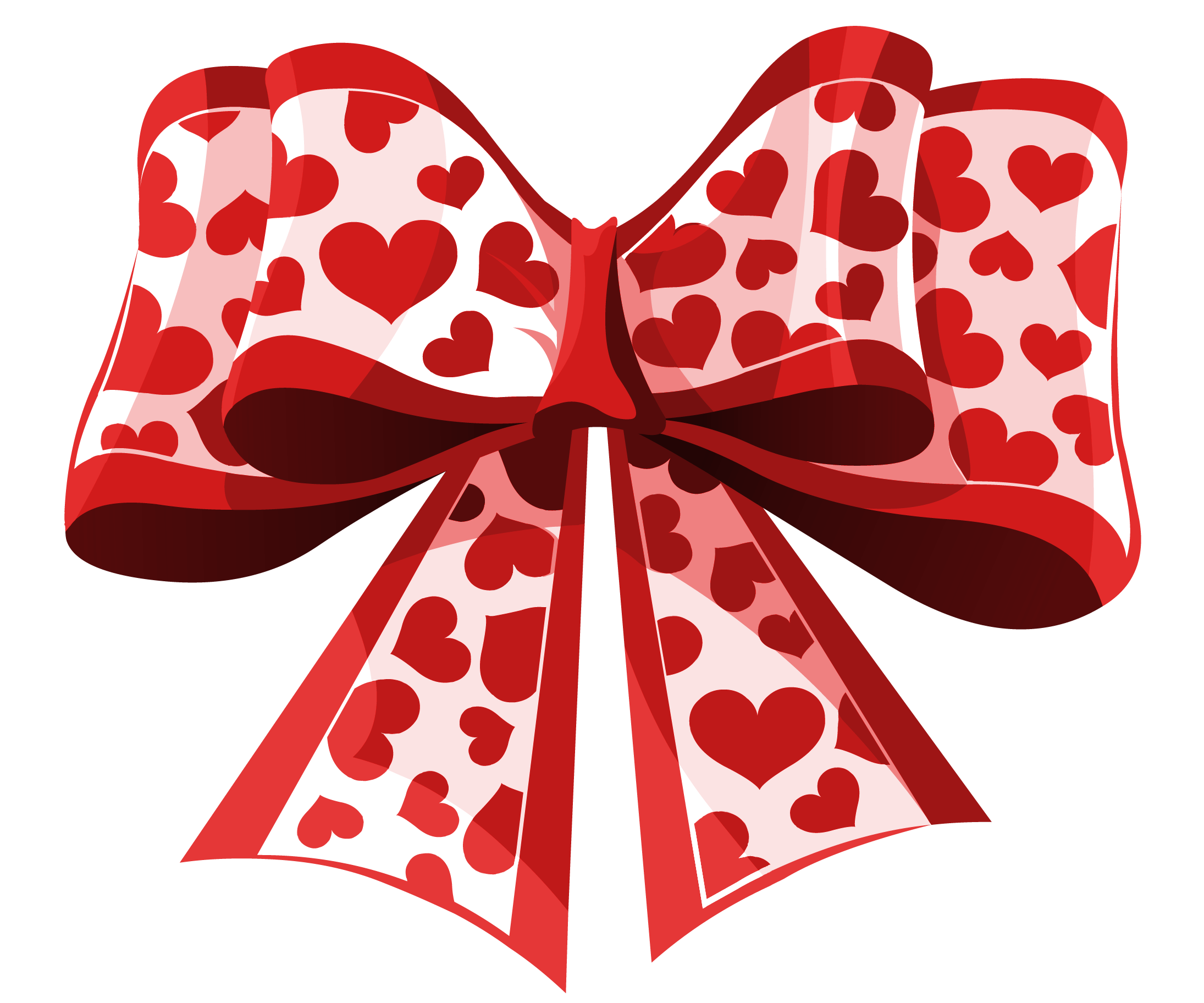 Valentine red png picture. Clipart bow heart