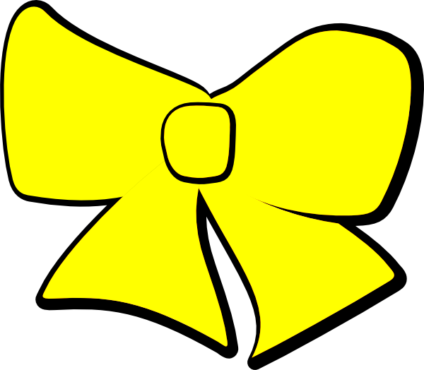 Yellow bow clip art. R clipart file