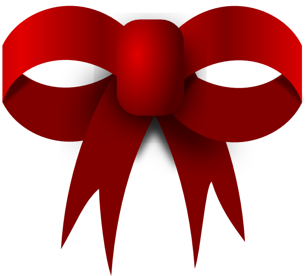 Red clip art at. Clipart bow large