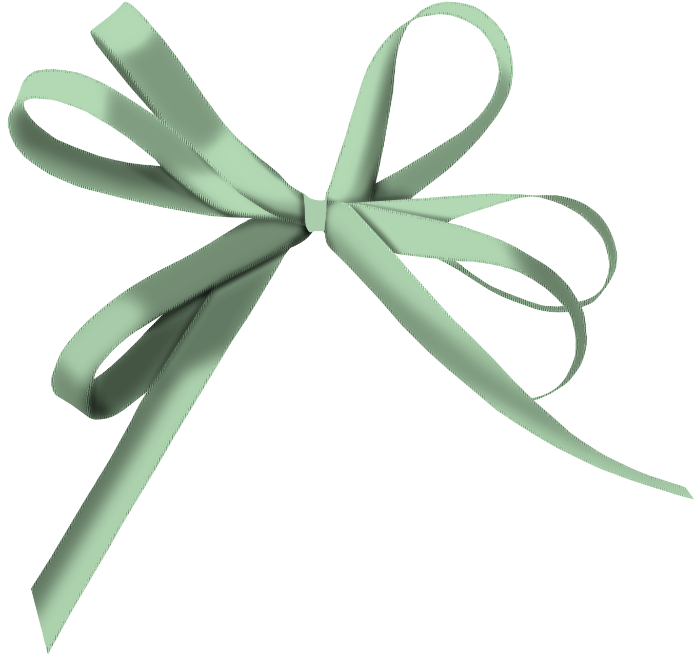 And arrow shoelace knot. Clipart bow light green