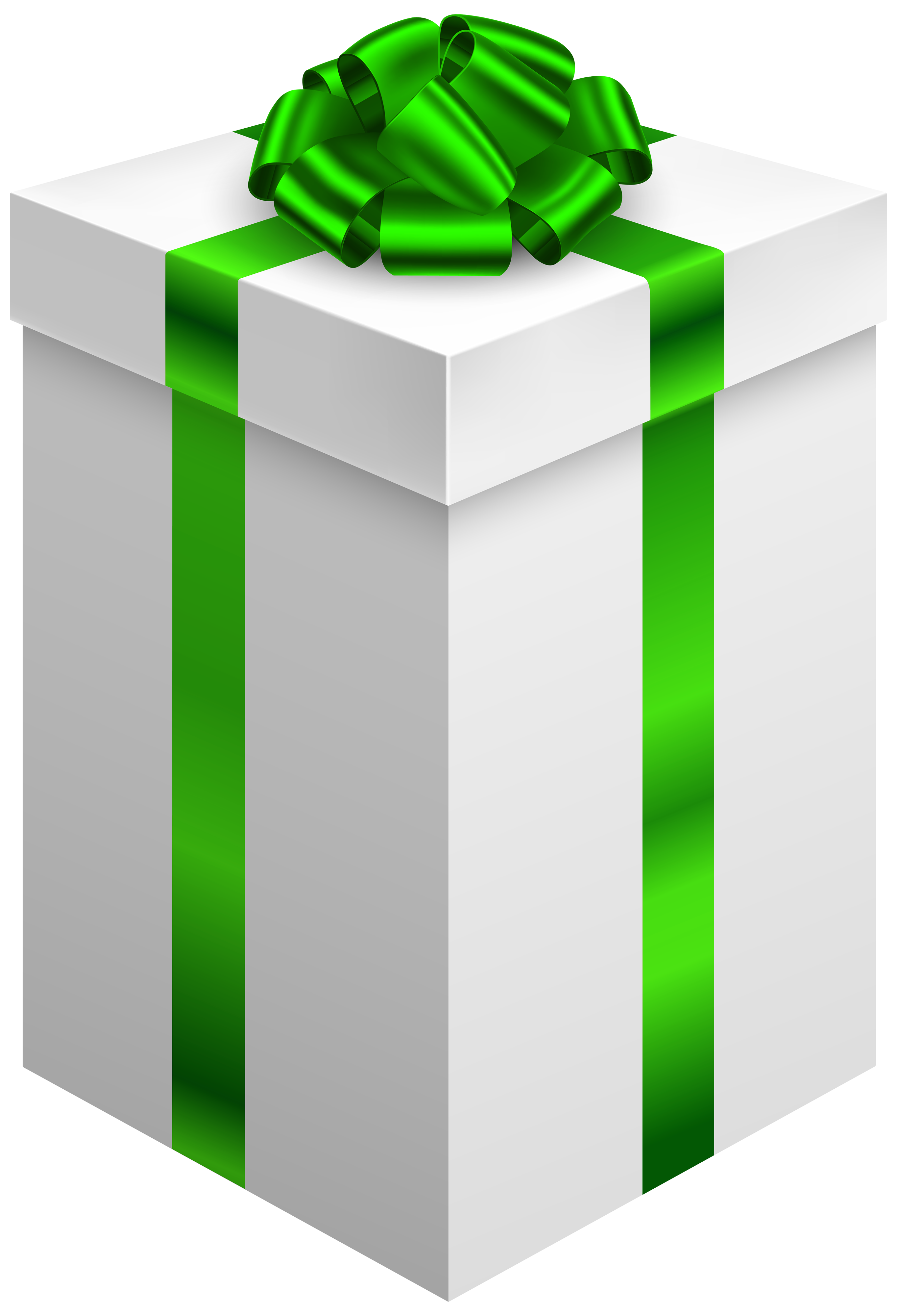 Gift box with png. Clipart bow light green