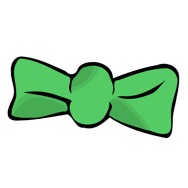 Clipart bow light green. Tie medium image png