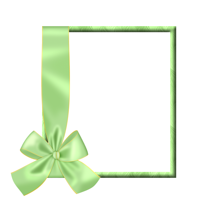 Clipart bow light green. Transparent frame with gallery