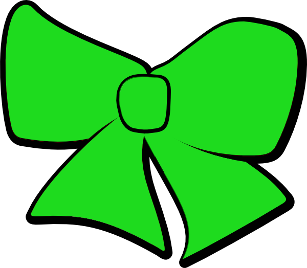 Bow clip art at. R clipart green