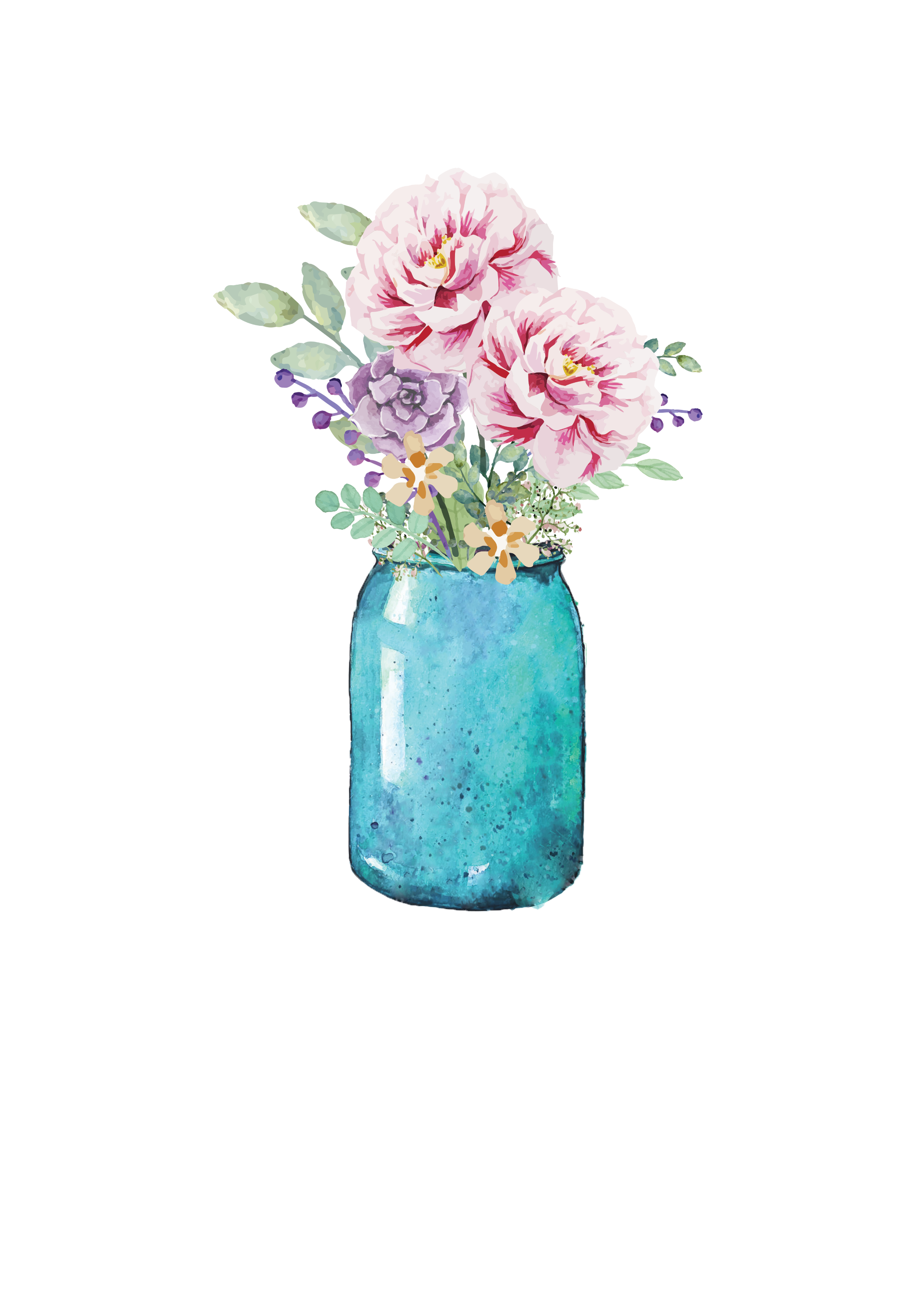 Lauren baxter flowers in. Perfume clipart canning jar
