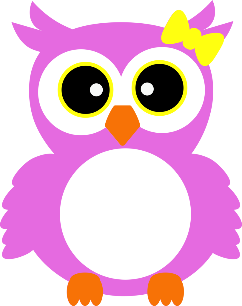 Owl with albb blanks. Clipart bow monogram bow