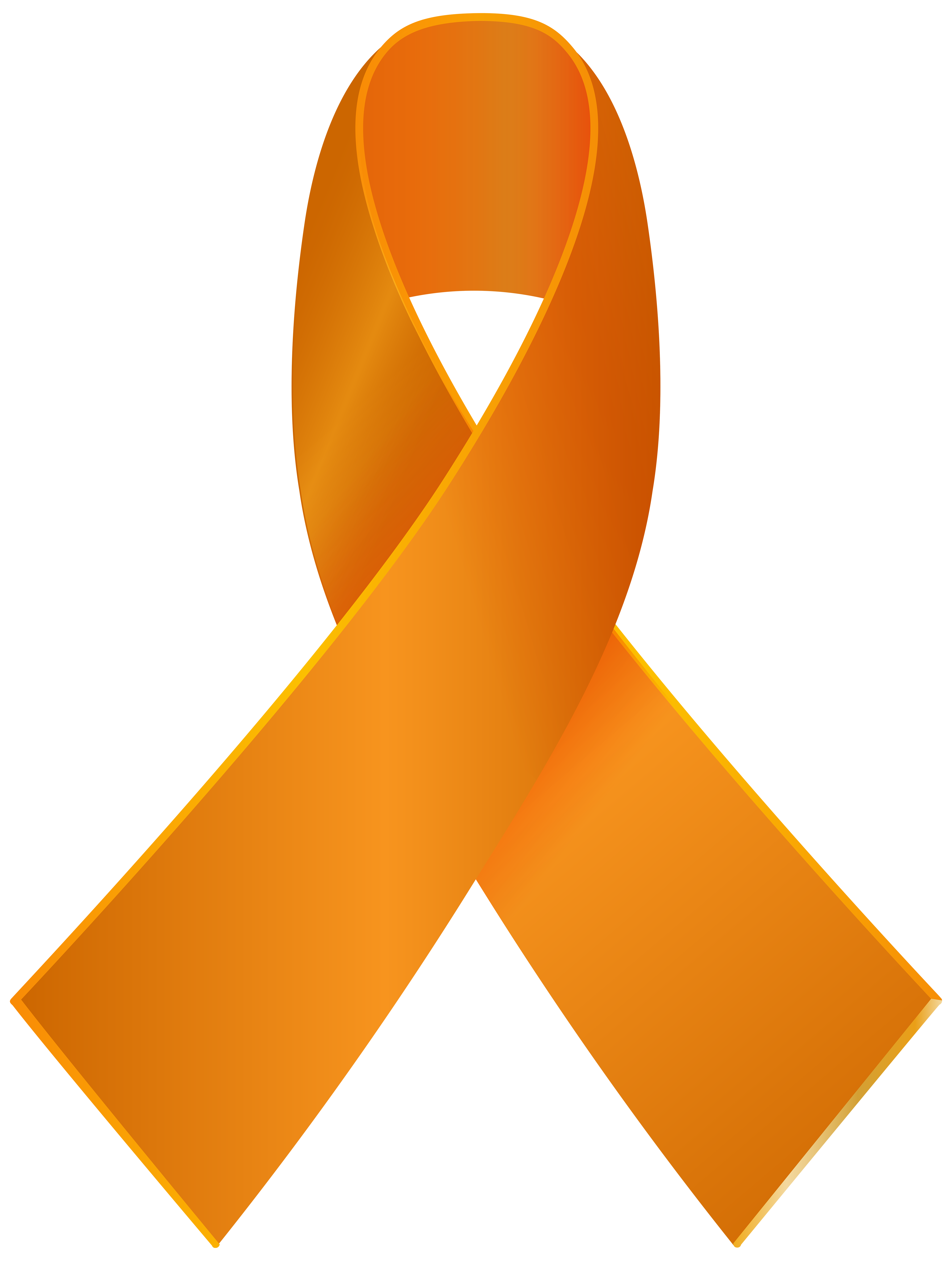 Awareness ribbon png clip. Orange clipart clouds