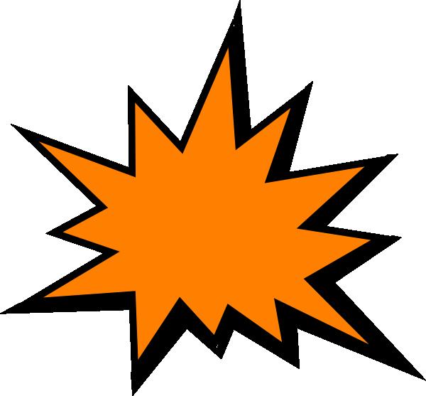 Orange comic clip art. Fist clipart pow