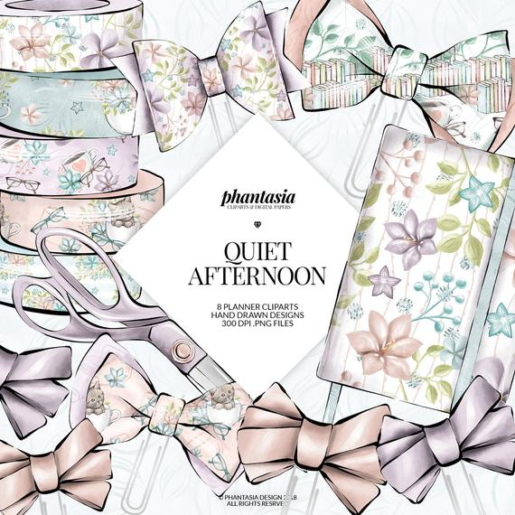 Spring planner cliparts reading. Clipart bow pastel bow