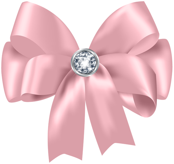 Beautiful bow with png. Clipart diamond pink
