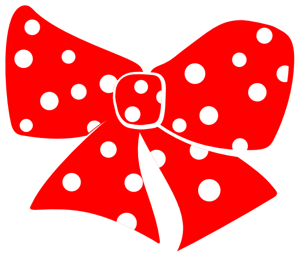 Clipart present polka dot. Bow with dots clip