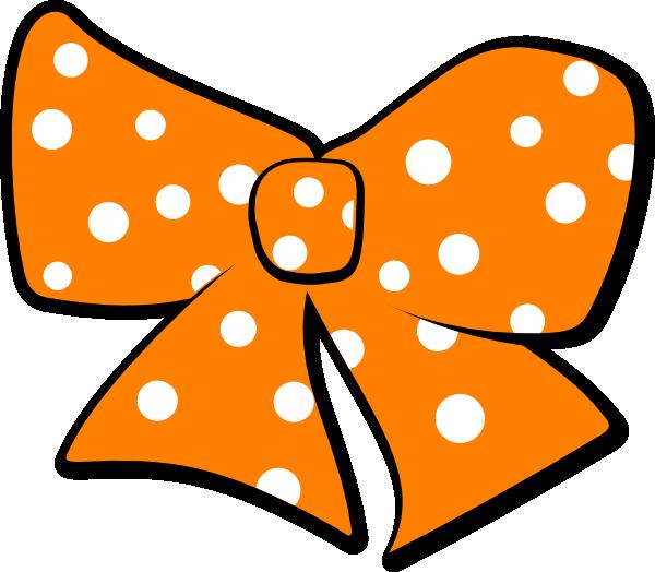 Megaphone clipart cartoon. Bow with polka dots
