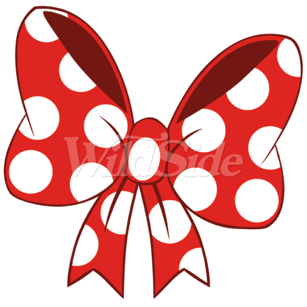 Red white tie the. Clipart bow polka dot