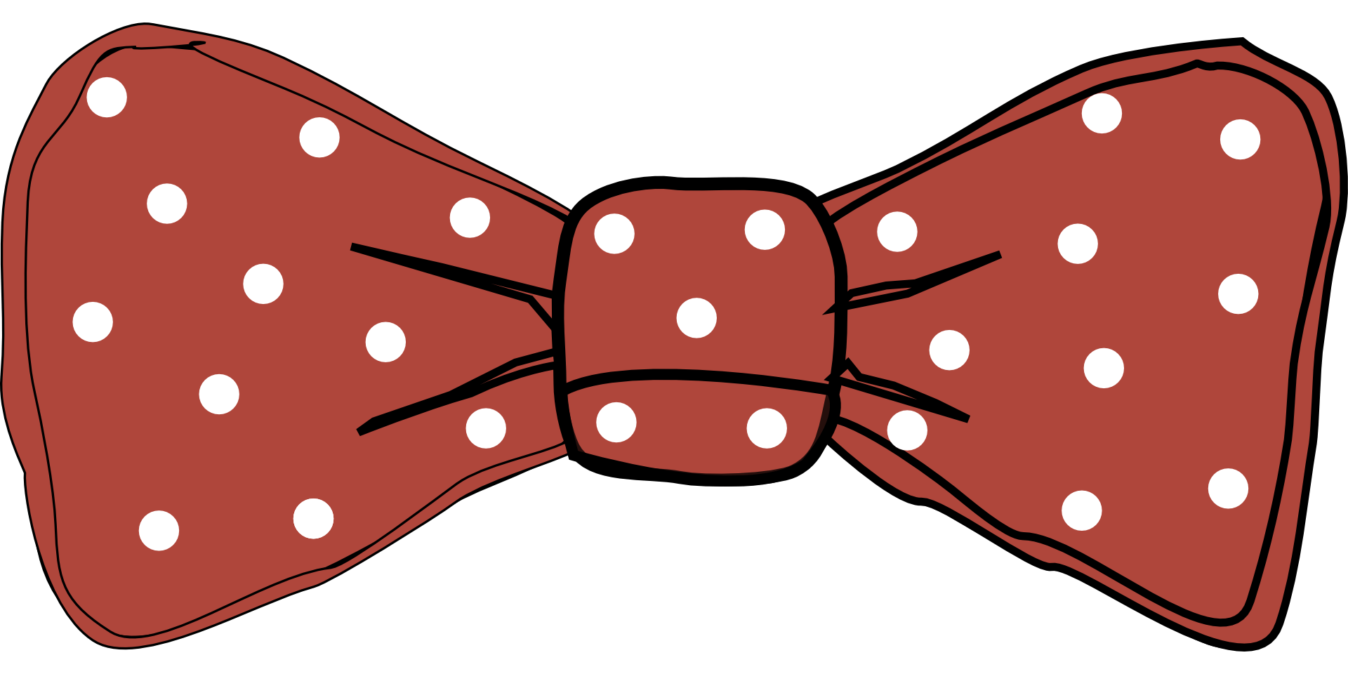 Tie photo prop template. Clipart bow polka dot