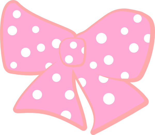 Bow with dots clip. R clipart polka dot