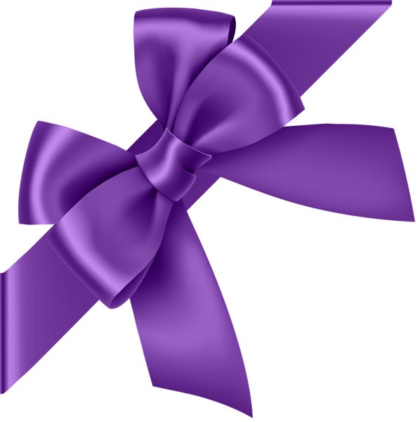 Corner bow transparent clip. Memories clipart purple tree