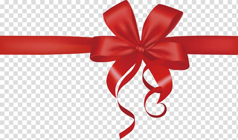 Red ribbon gift festive. Clipart bow present bow