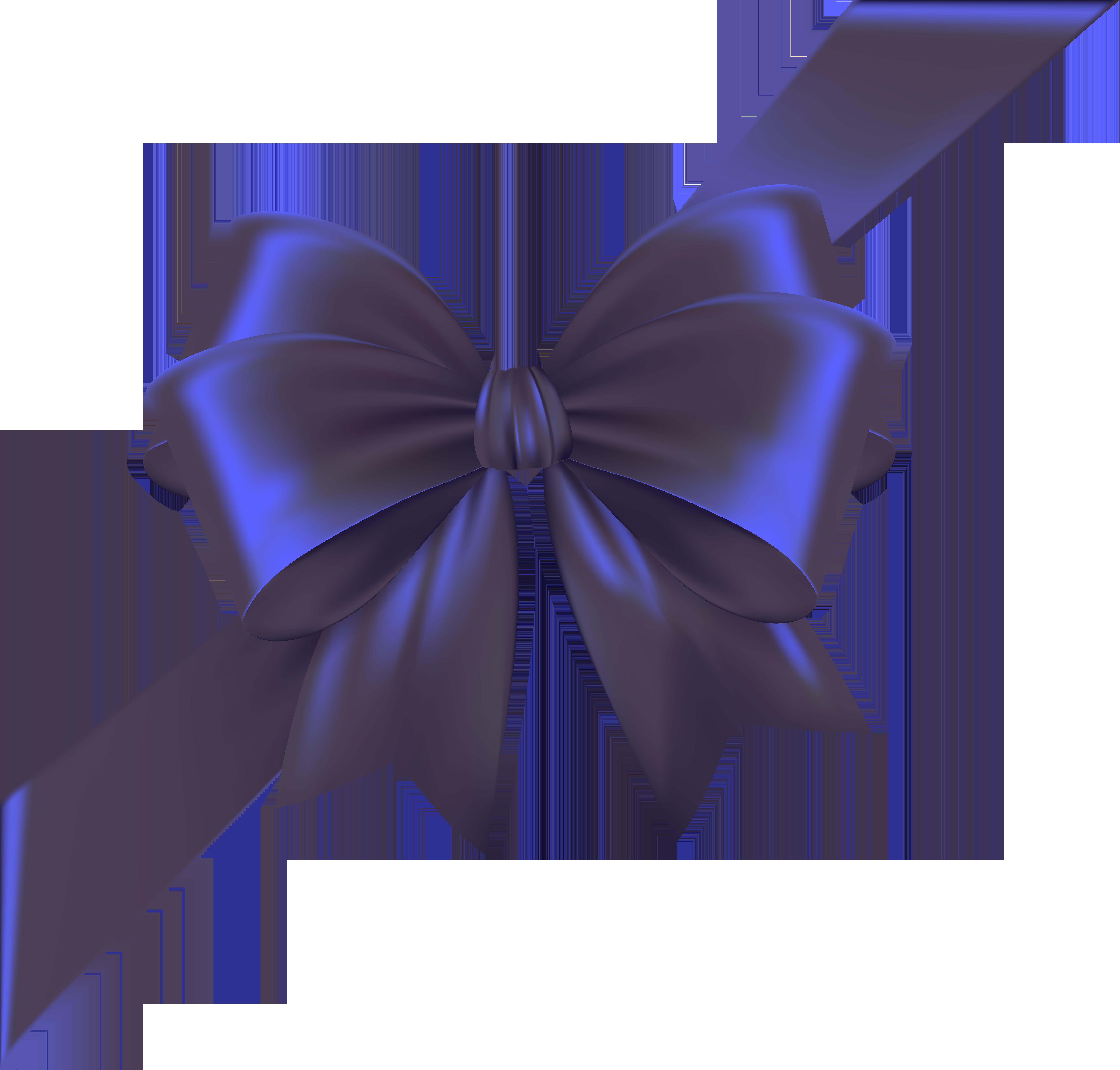 Bow with ribbon transparent. Purple clipart corner