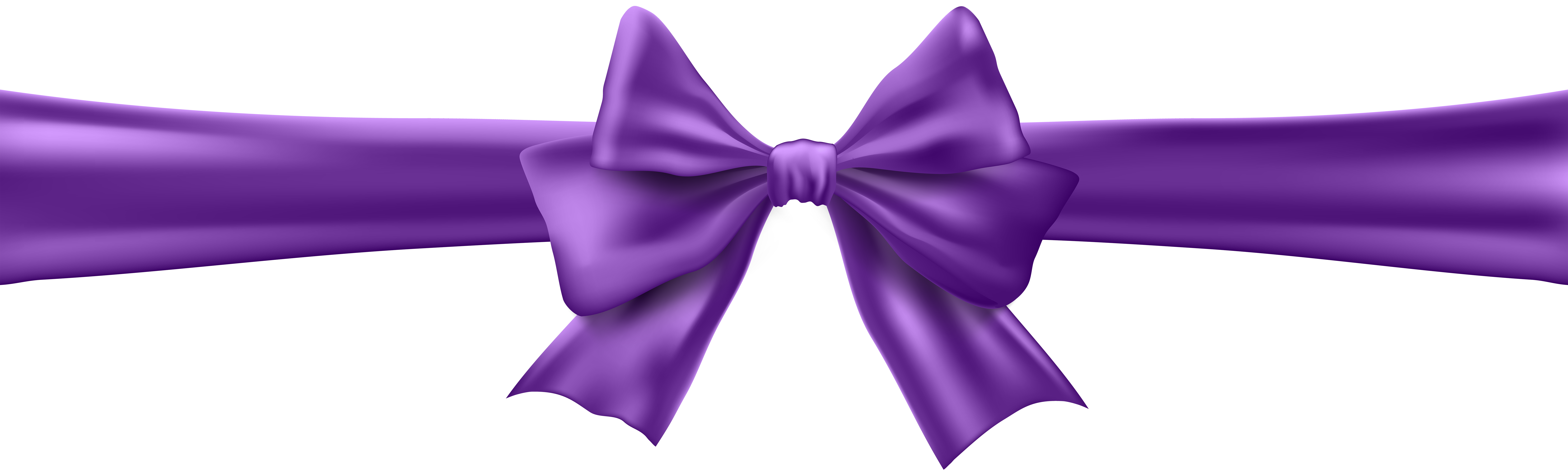 Bow with ribbon clip. Bows clipart purple