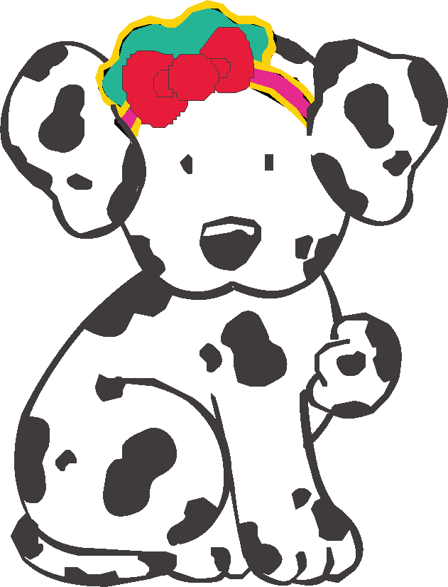 Dalmatian dog hello kitty. Clipart dogs stick figure