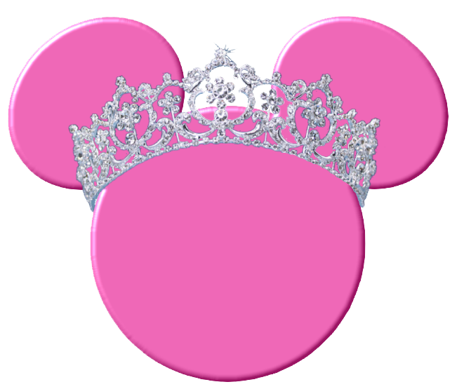 Minnie mouse silhouette heads. Dreaming clipart pink